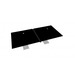 Regengoot PVC 330cm Zwart
